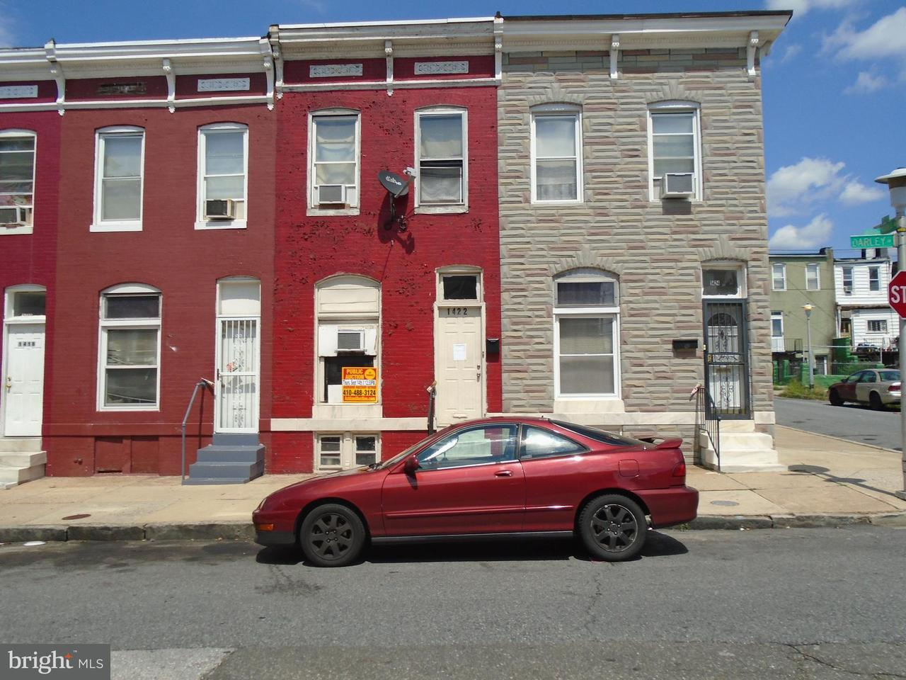 Single Family for Sale at 1422 Darley Ave Baltimore, Maryland 21213 United States