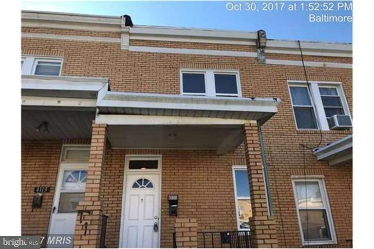 Single Family for Sale at 4111 Eierman Ave Baltimore, Maryland 21206 United States