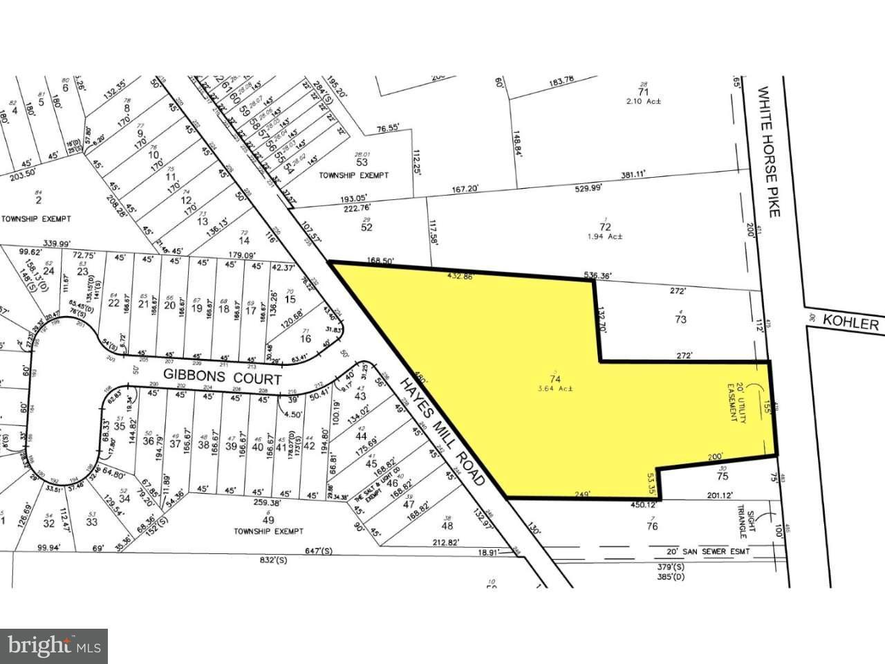 Enfamiljshus för Försäljning vid 479 WHITE HORSE PIKE Atco, New Jersey 08004 Usa