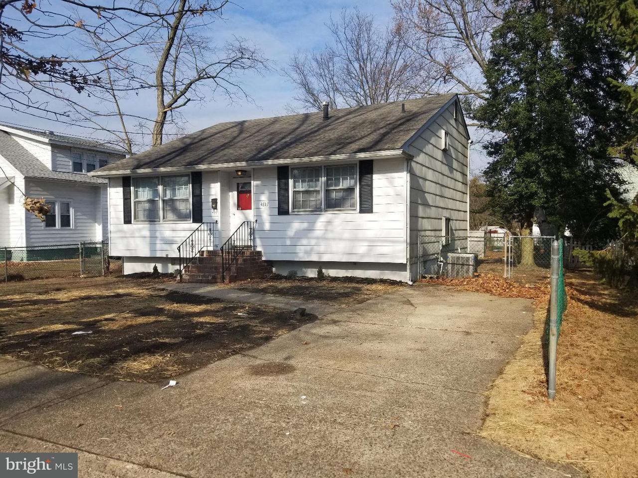独户住宅 为 出租 在 4817 CHESTNUT Avenue Pennsauken, 新泽西州 08109 美国
