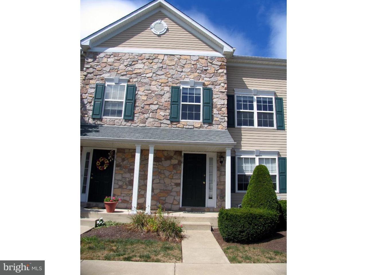 Maison accolée pour l à louer à 316 JASPER CT #46 Warrington, Pennsylvanie 18976 États-Unis