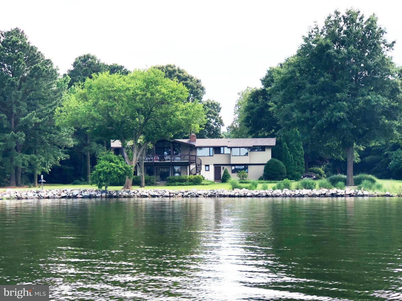 Maison unifamiliale pour l Vente à 7739 Quaker Neck Road 7739 Quaker Neck Road Bozman, Maryland 21612 États-Unis