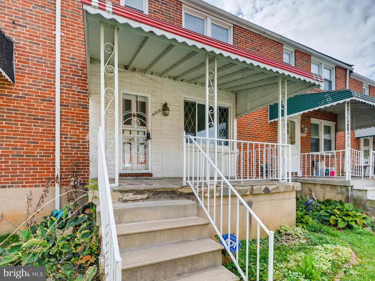 Single Family for Sale at 4209 N Rogers Ave Baltimore, Maryland 21215 United States