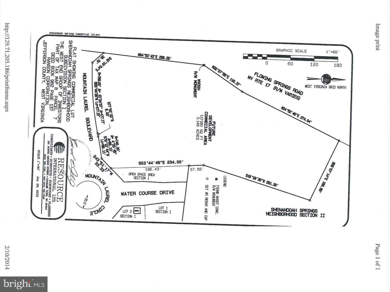 Land für Verkauf beim FLOWING SPRINGS Road FLOWING SPRINGS Road Ranson, West Virginia 25438 Vereinigte Staaten
