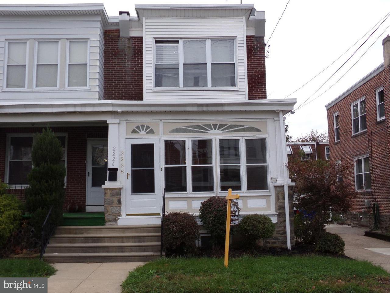 Таунхаус для того Аренда на 2228 MANOR Avenue Upper Darby, Пенсильвания 19082 Соединенные Штаты