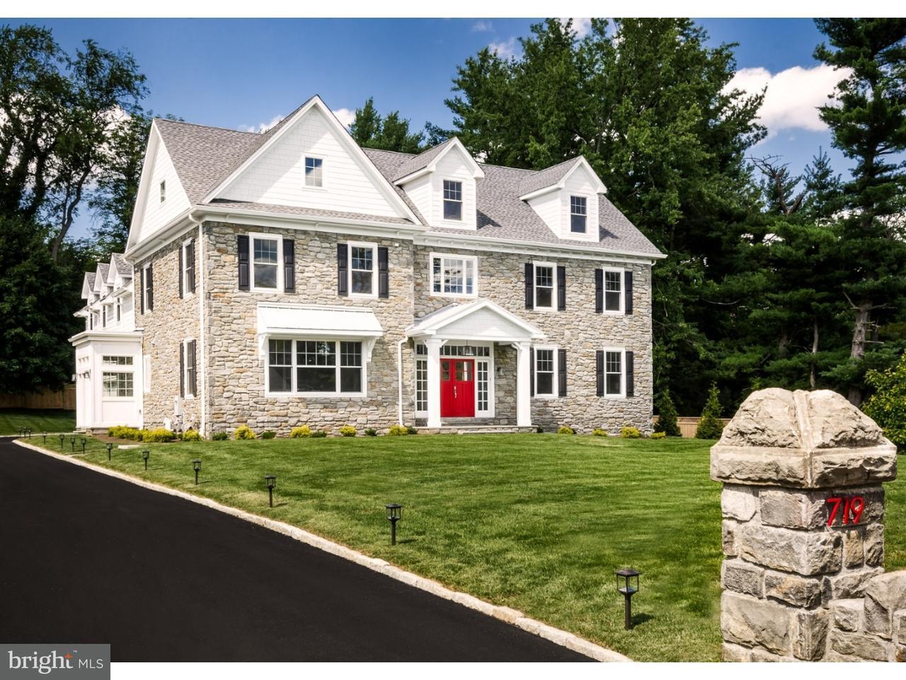 Частный односемейный дом для того Продажа на 719 CONSHOHOCKEN STATE Road Penn Valley, Пенсильвания 19072 Соединенные Штаты