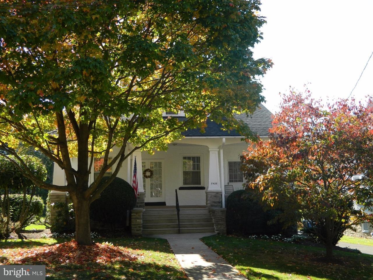 Частный односемейный дом для того Продажа на 2428 FAIRHILL Avenue Glenside, Пенсильвания 19038 Соединенные Штаты
