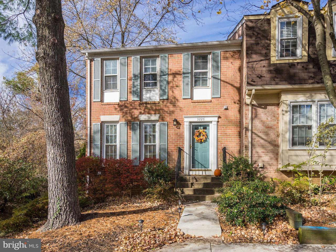 Townhouse for Sale at 3226 WHITE FLINT Court 3226 WHITE FLINT Court Oakton, Virginia 22124 United States