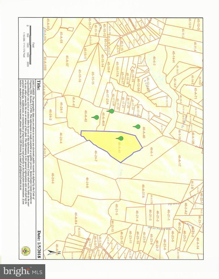 Terrain pour l Vente à Curtis Lane-Off Curtis Lane-Off Spotsylvania, Virginia 22551 États-Unis