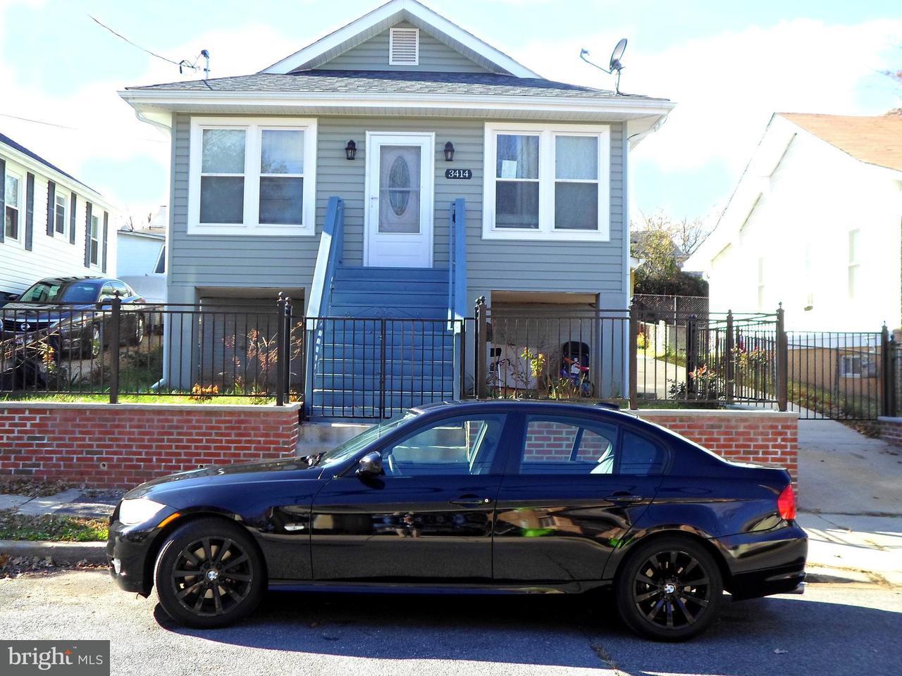 独户住宅 为 销售 在 3414 40TH Place 3414 40TH Place 布伦特伍德, 马里兰州 20722 美国