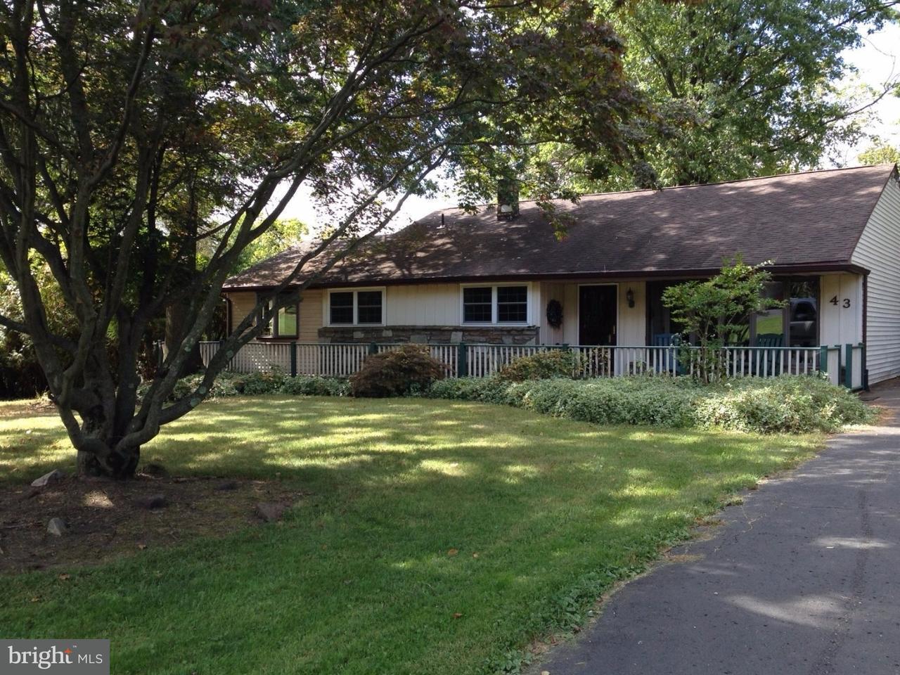 独户住宅 为 销售 在 43 HALLOWELL Drive Wrightstown, 宾夕法尼亚州 18943 美国