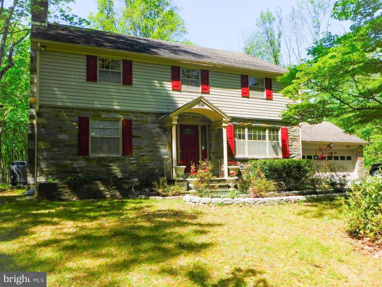 Maison unifamiliale pour l Vente à 589 PORT INDIAN Road Jeffersonville, Pennsylvanie 19403 États-Unis