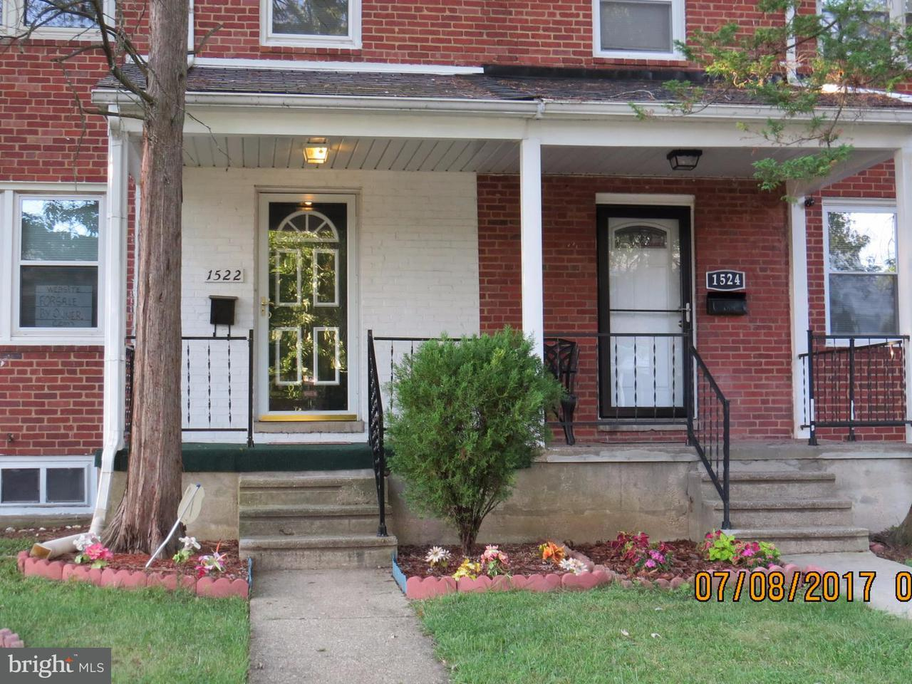 Single Family for Sale at 1522 Stonewood Rd Baltimore, Maryland 21239 United States
