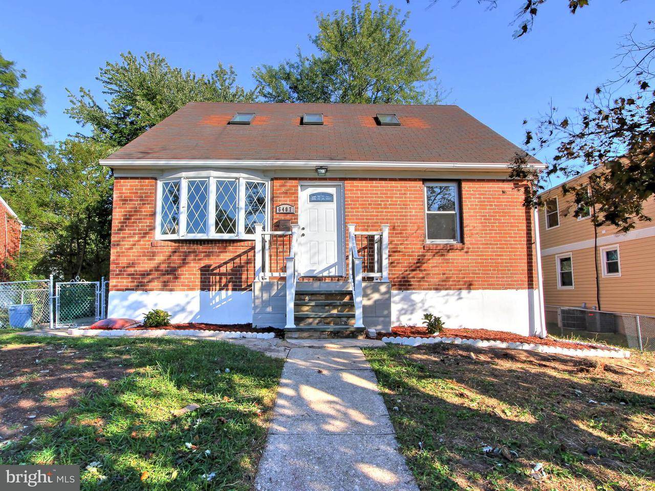 Single Family for Sale at 6407 Fair Oaks Ave Baltimore, Maryland 21214 United States
