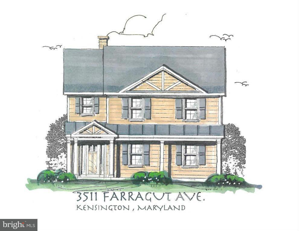 独户住宅 为 销售 在 3511 FARRAGUT Avenue 3511 FARRAGUT Avenue 肯辛顿, 马里兰州 20895 美国
