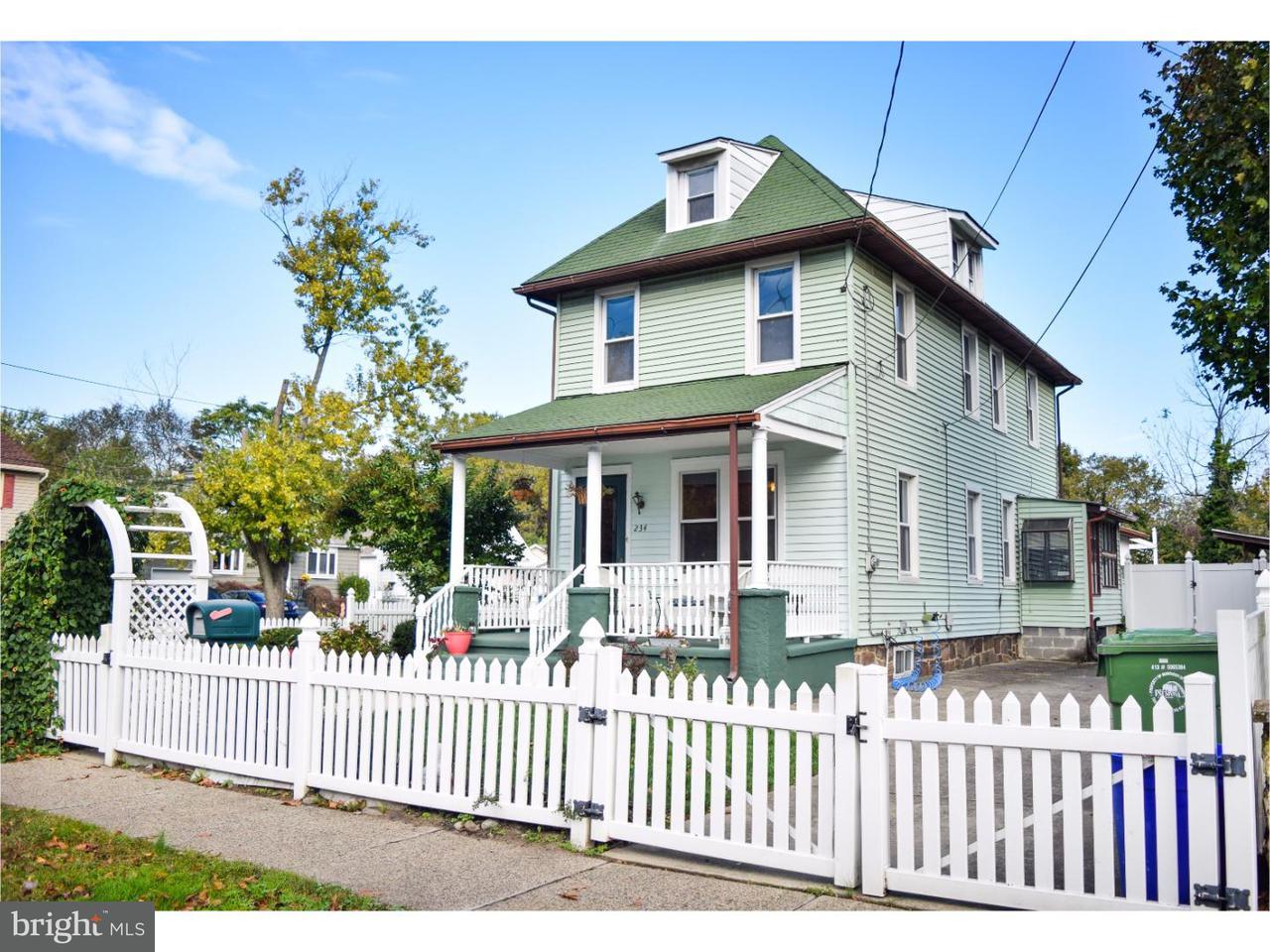 Частный односемейный дом для того Продажа на 234 HORACE Avenue Palmyra, Нью-Джерси 08065 Соединенные Штаты