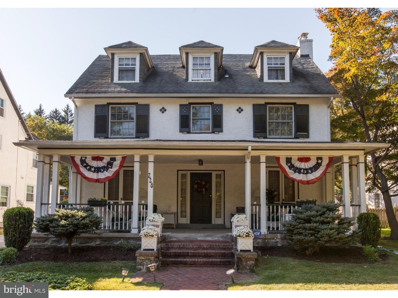 Частный односемейный дом для того Продажа на 228 VALLEY Road Merion Station, Пенсильвания 19066 Соединенные Штаты