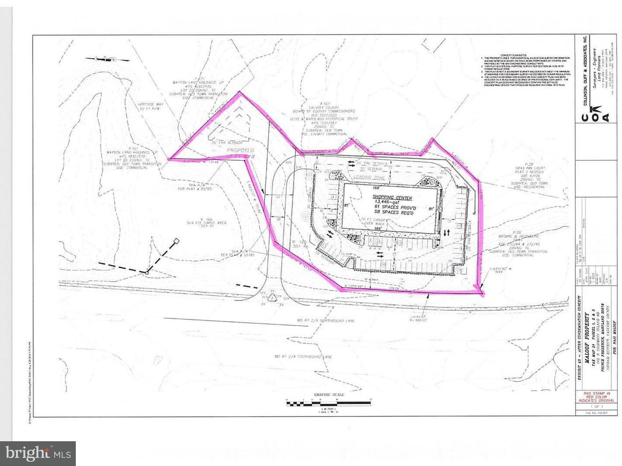 Land for Sale at 145 Solomons Island Rd S 145 Solomons Island Rd S Prince Frederick, Maryland 20678 United States