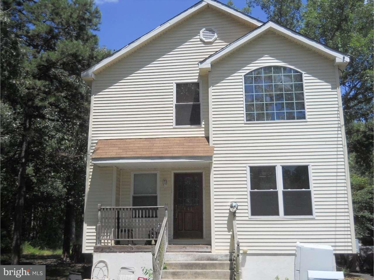 Eensgezinswoning voor Verkoop een t 641 6TH Road Buena Vista Township, New Jersey 08346 Verenigde Staten