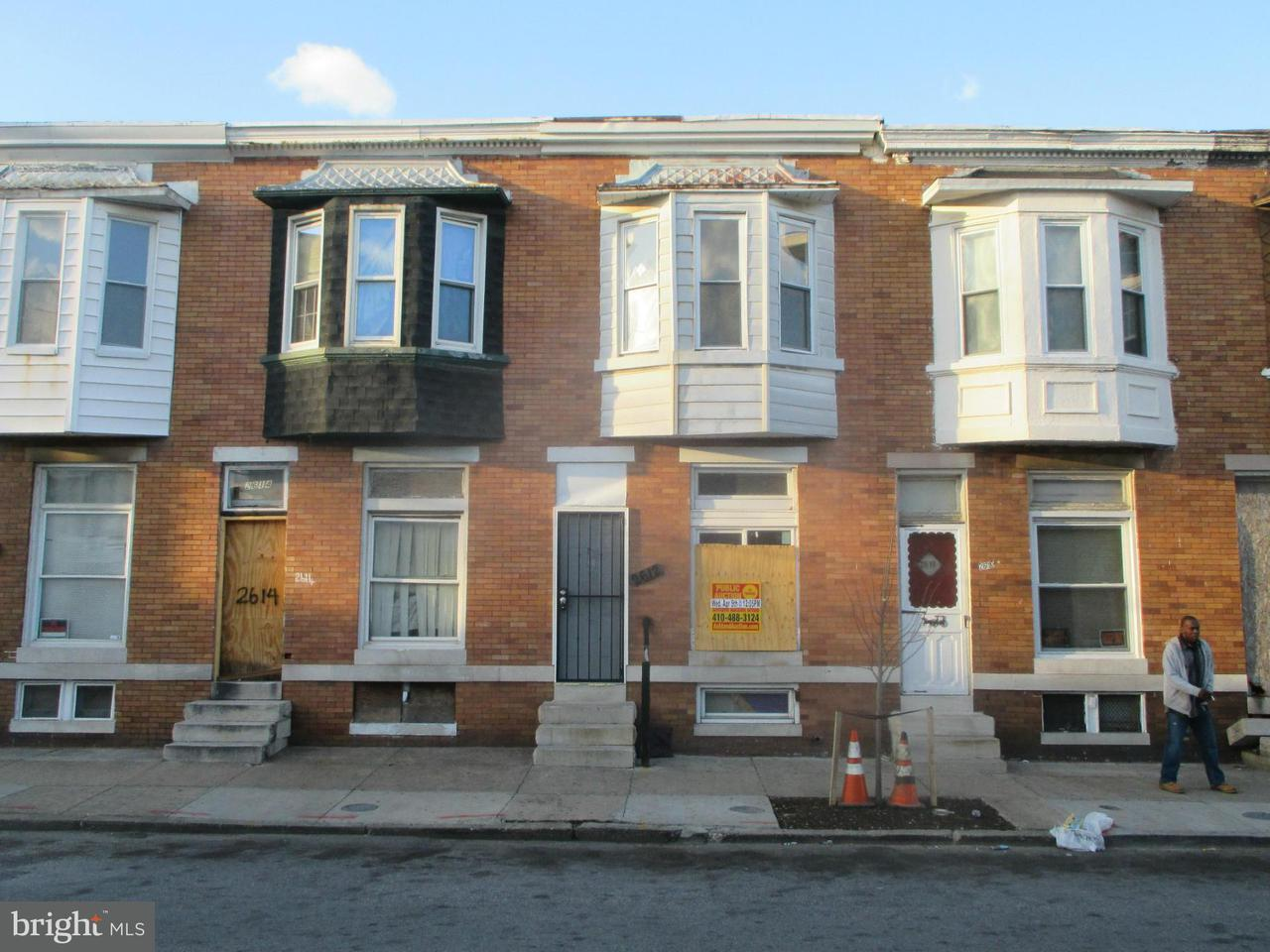 Single Family for Sale at 2612 Fairmount Ave W Baltimore, Maryland 21223 United States