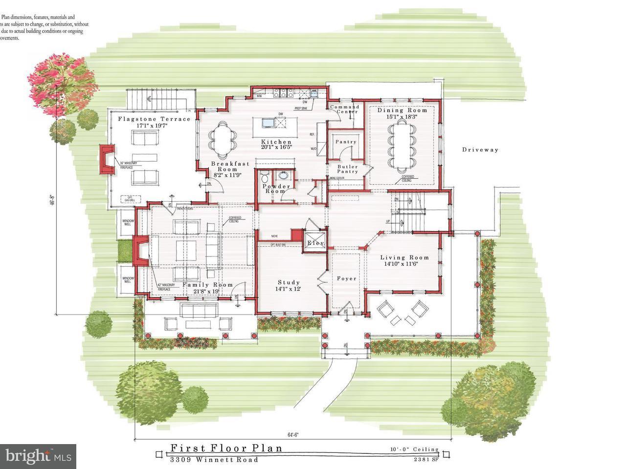 Maison unifamiliale pour l Vente à 3309 Winnett Road 3309 Winnett Road Chevy Chase, Maryland 20815 États-Unis