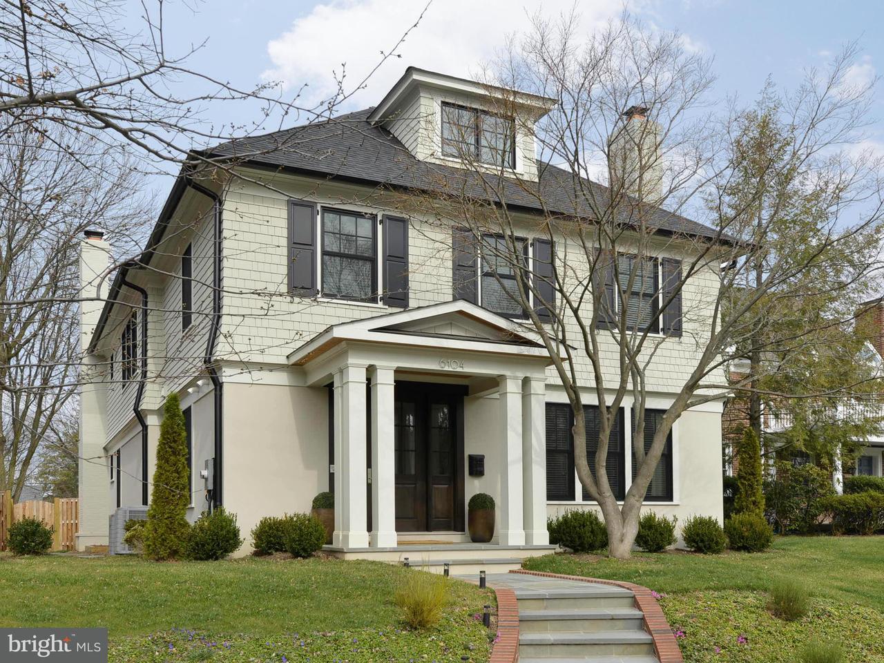 Частный односемейный дом для того Продажа на 6517 BARNABY ST NW 6517 BARNABY ST NW Washington, Округ Колумбия 20015 Соединенные Штаты