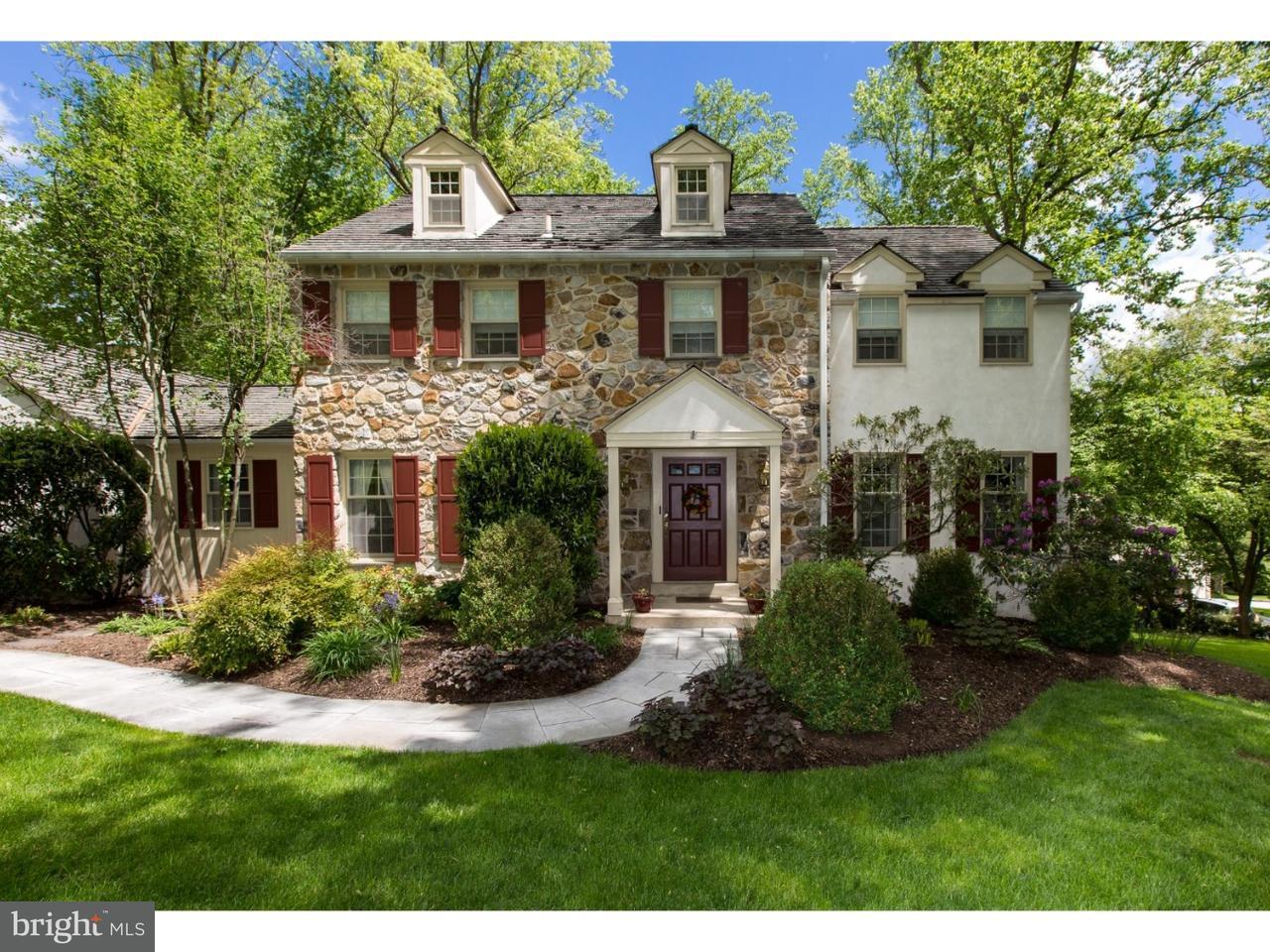 Частный односемейный дом для того Продажа на 421 ROUND HILL Road St. Davids, Пенсильвания 19087 Соединенные Штаты