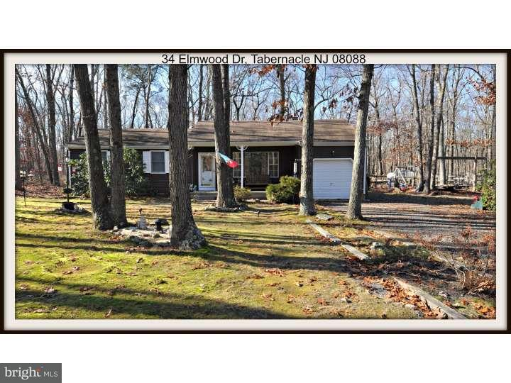 Single Family Home for Sale at 34 ELMWOOD Drive Tabernacle Twp, New Jersey 08088 United States