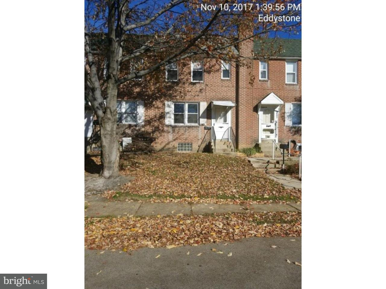 Townhouse for Sale at 1003 TOLL Street Eddystone, Pennsylvania 19022 United States