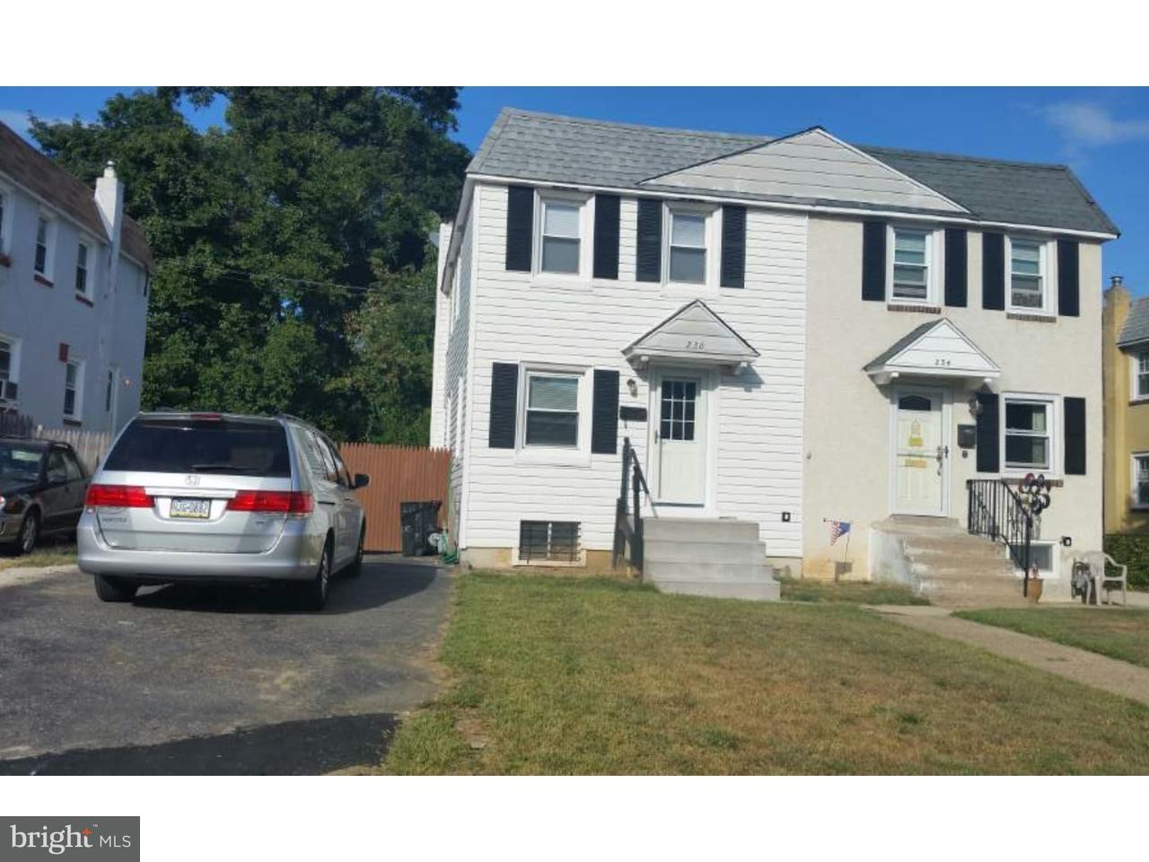 Townhouse for Sale at 236 CRUM CREEK Drive Woodlyn, Pennsylvania 19094 United States