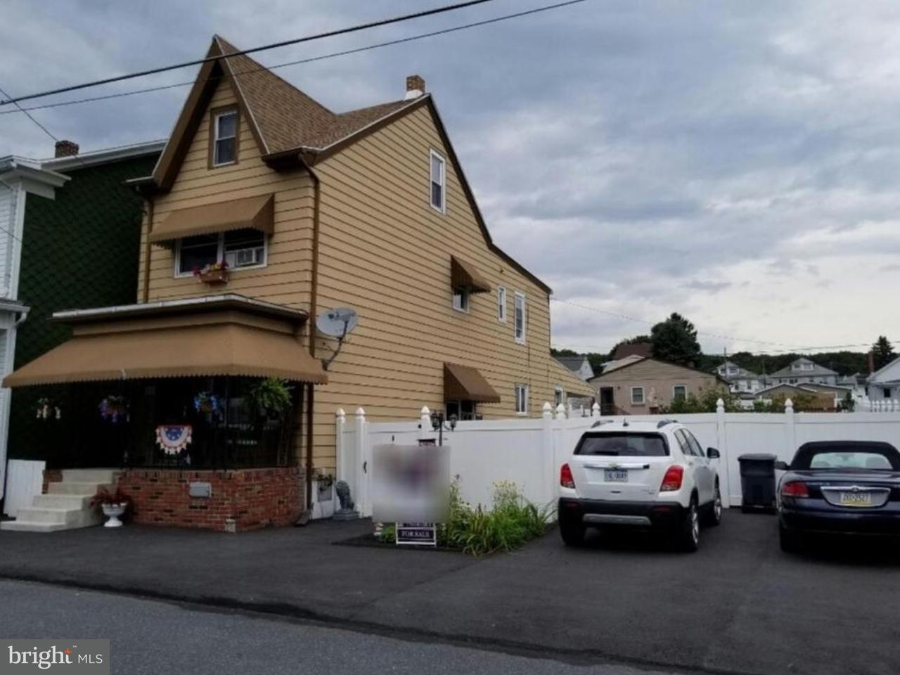 Частный односемейный дом для того Продажа на 137 S LINE Street Frackville, Пенсильвания 17931 Соединенные Штаты
