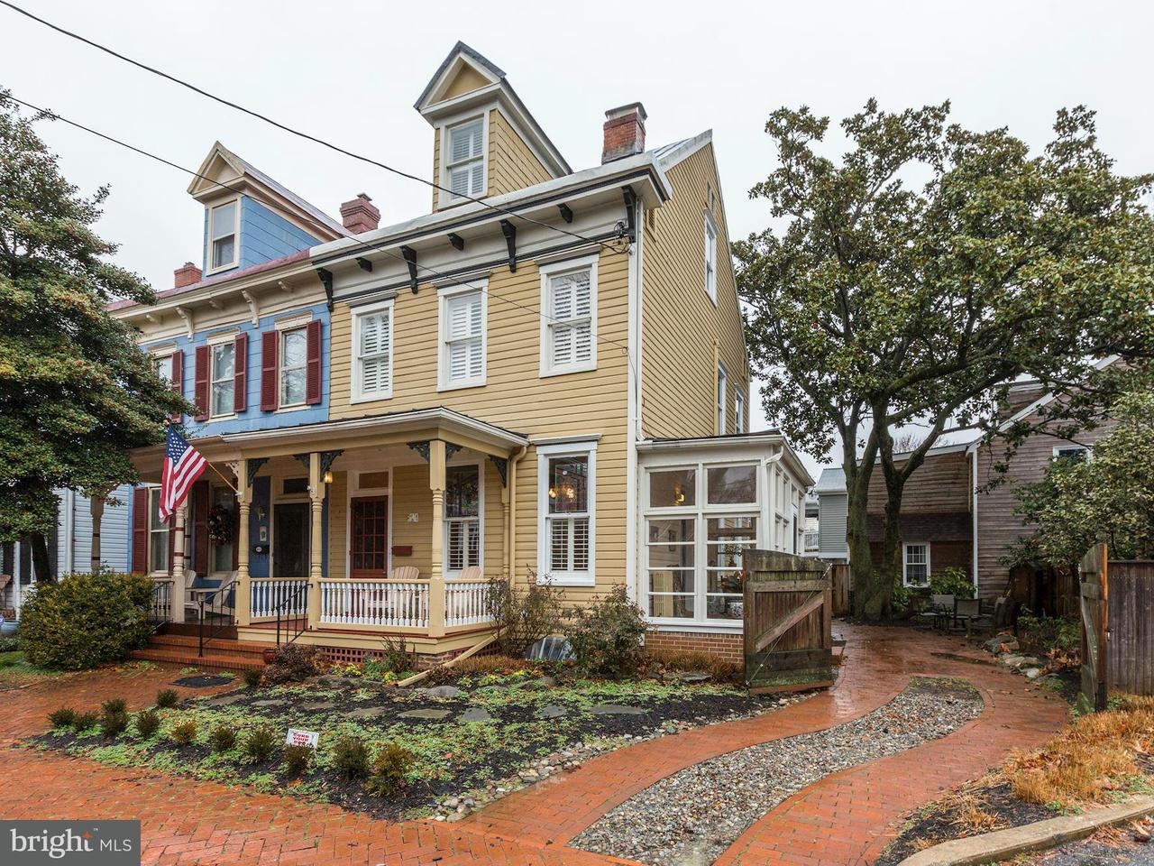 Casa unifamiliar adosada (Townhouse) por un Venta en 262 KING GEORGE Street 262 KING GEORGE Street Annapolis, Maryland 21401 Estados Unidos