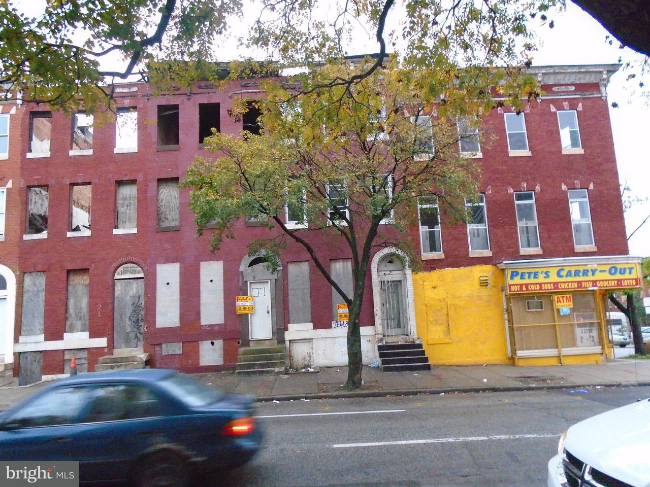 Single Family for Sale at 25 Fulton Ave Baltimore, Maryland 21223 United States