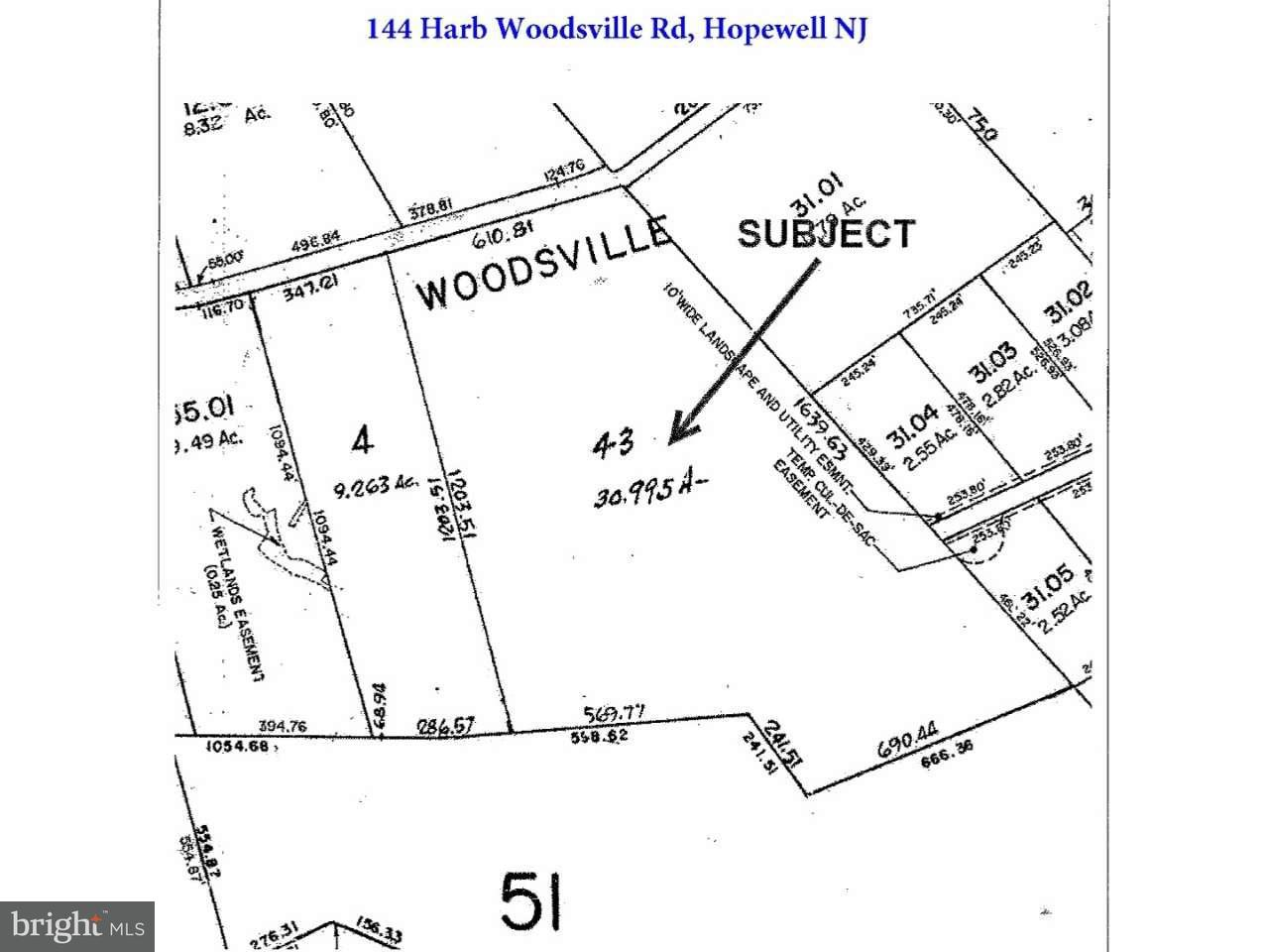 Single Family Home for Sale at 144 HARBOURTOWN WOODSVILLE Road Hopewell, New Jersey 08534 United StatesMunicipality: Hopewell Township