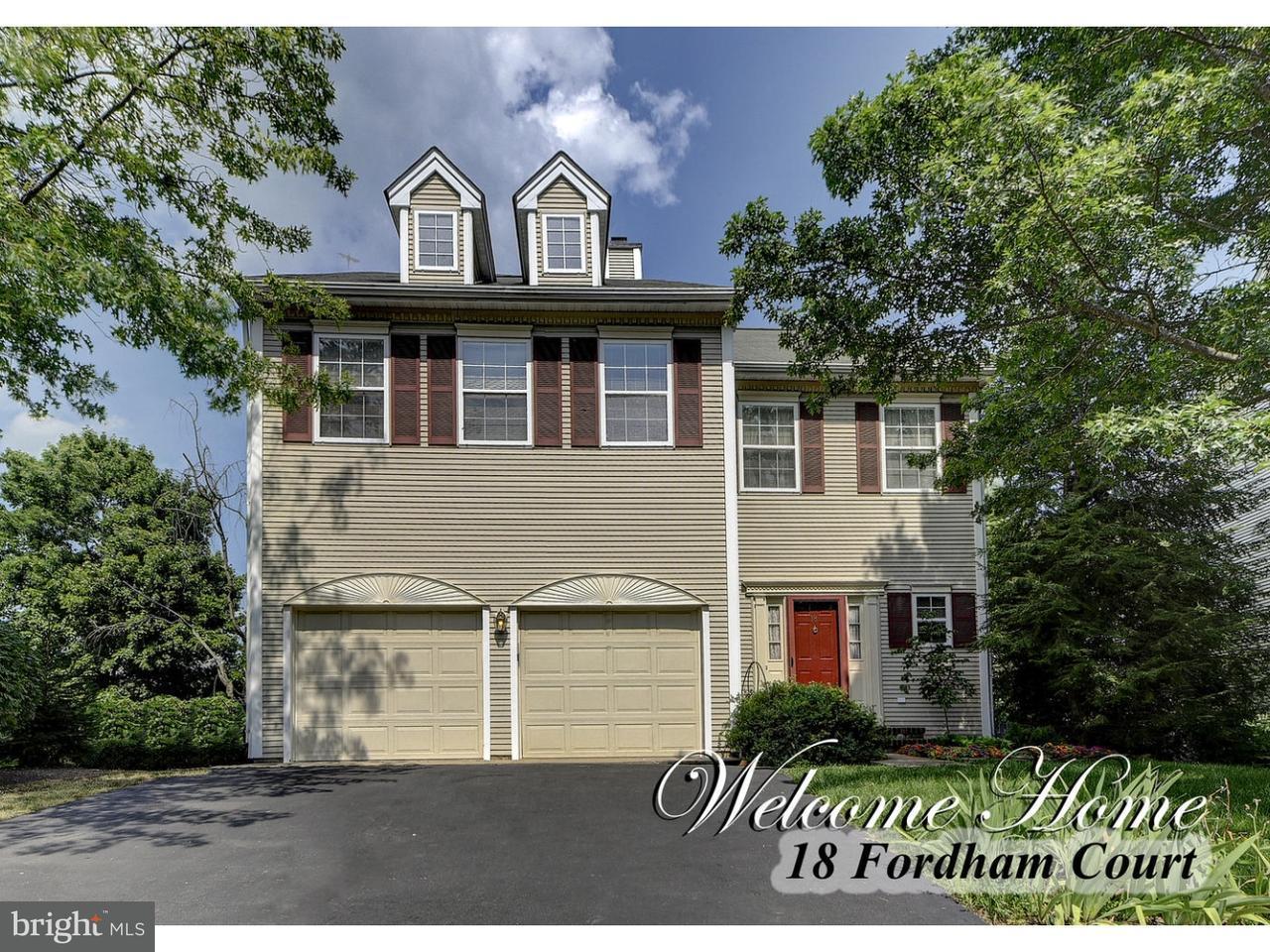 独户住宅 为 销售 在 18 FORDHAM Court 肯德尔帕克, 新泽西州 08824 美国在/周边: South Brunswick Township
