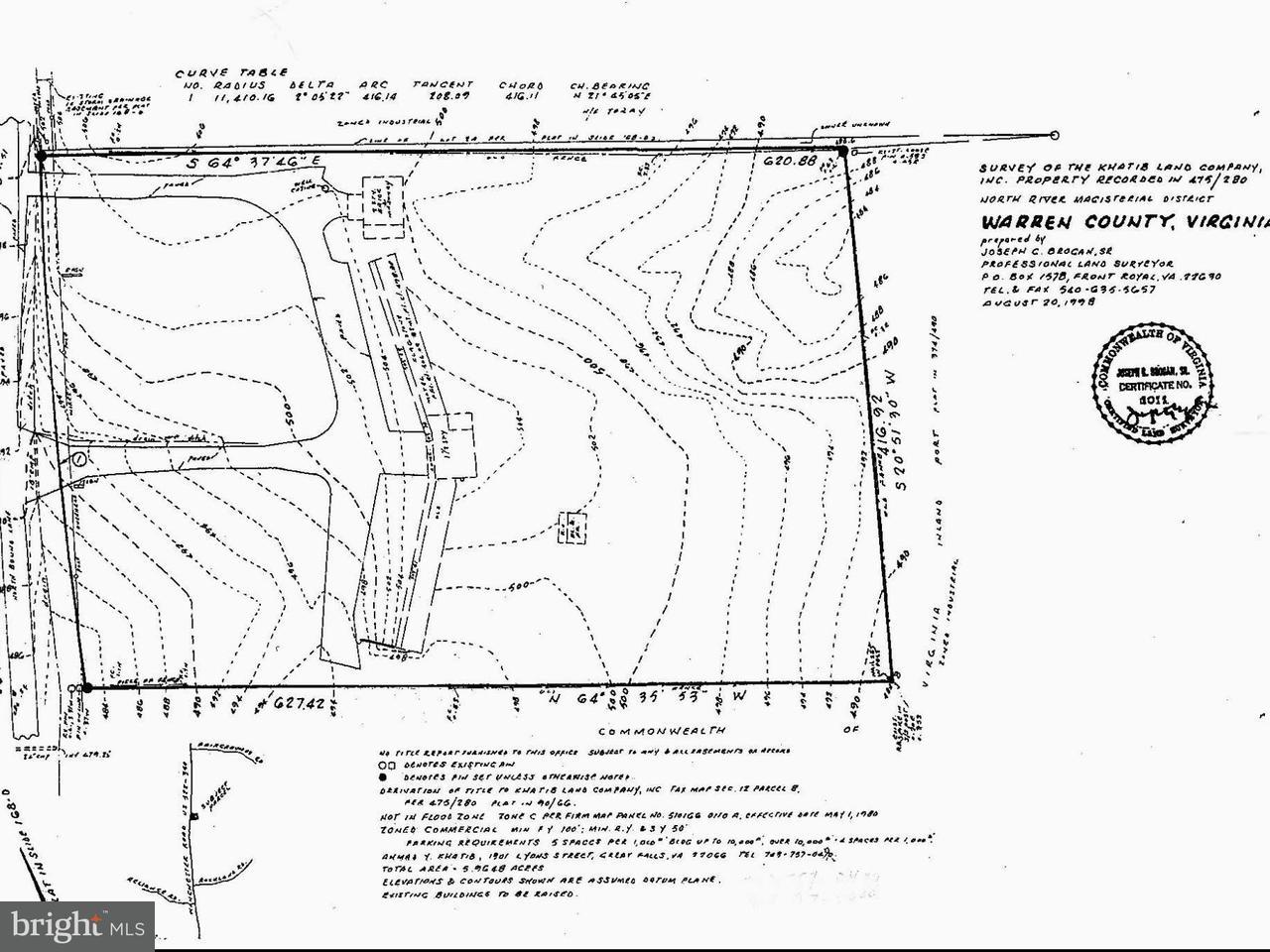 Terrain pour l Vente à 7431 WINCHESTER Road 7431 WINCHESTER Road Front Royal, Virginia 22630 États-Unis