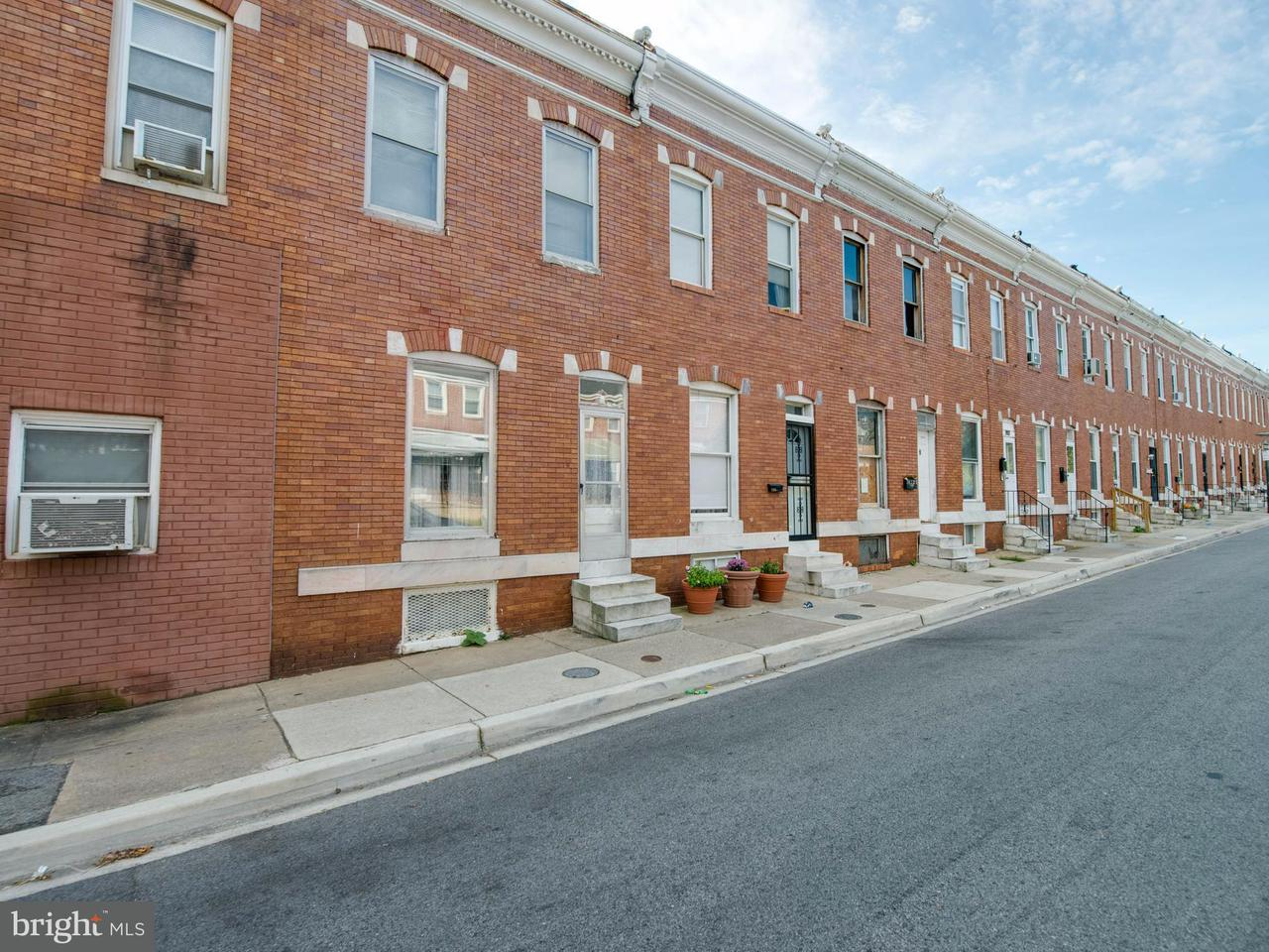 Single Family for Sale at 2421 Christian St Baltimore, Maryland 21223 United States