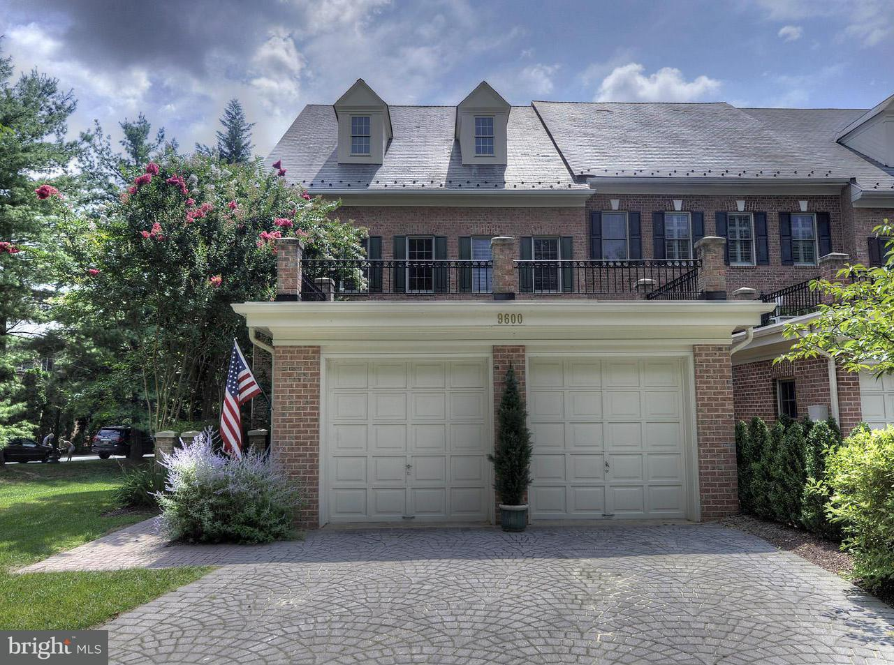 Maison accolée pour l Vente à 9600 BEMAN WOODS WAY 9600 BEMAN WOODS WAY Potomac, Maryland 20854 États-Unis