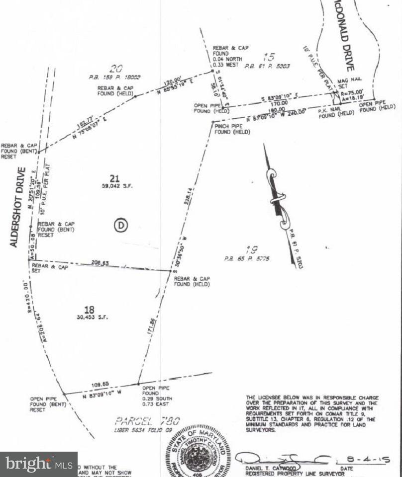 土地,用地 为 销售 在 9101 ALDERSHOT Drive 9101 ALDERSHOT Drive 贝塞斯达, 马里兰州 20817 美国