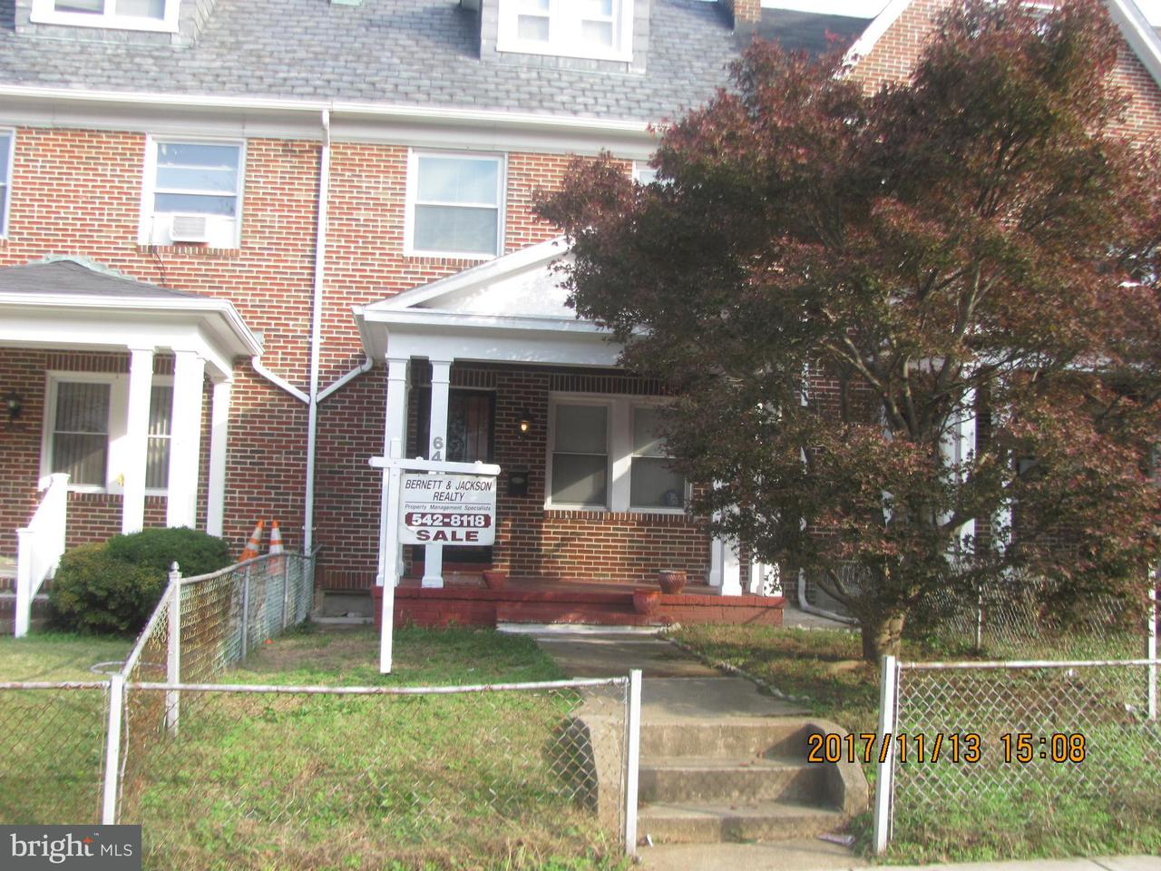 Single Family for Sale at 641north Augusta Ave N #641 Baltimore, Maryland 21229 United States