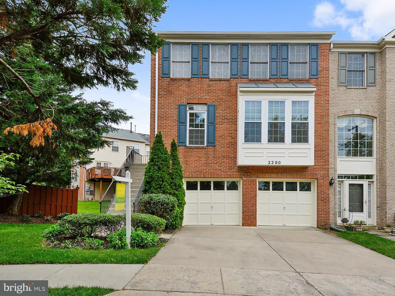 Townhouse for Sale at 2200 MEARS Lane 2200 MEARS Lane Silver Spring, Maryland 20906 United States