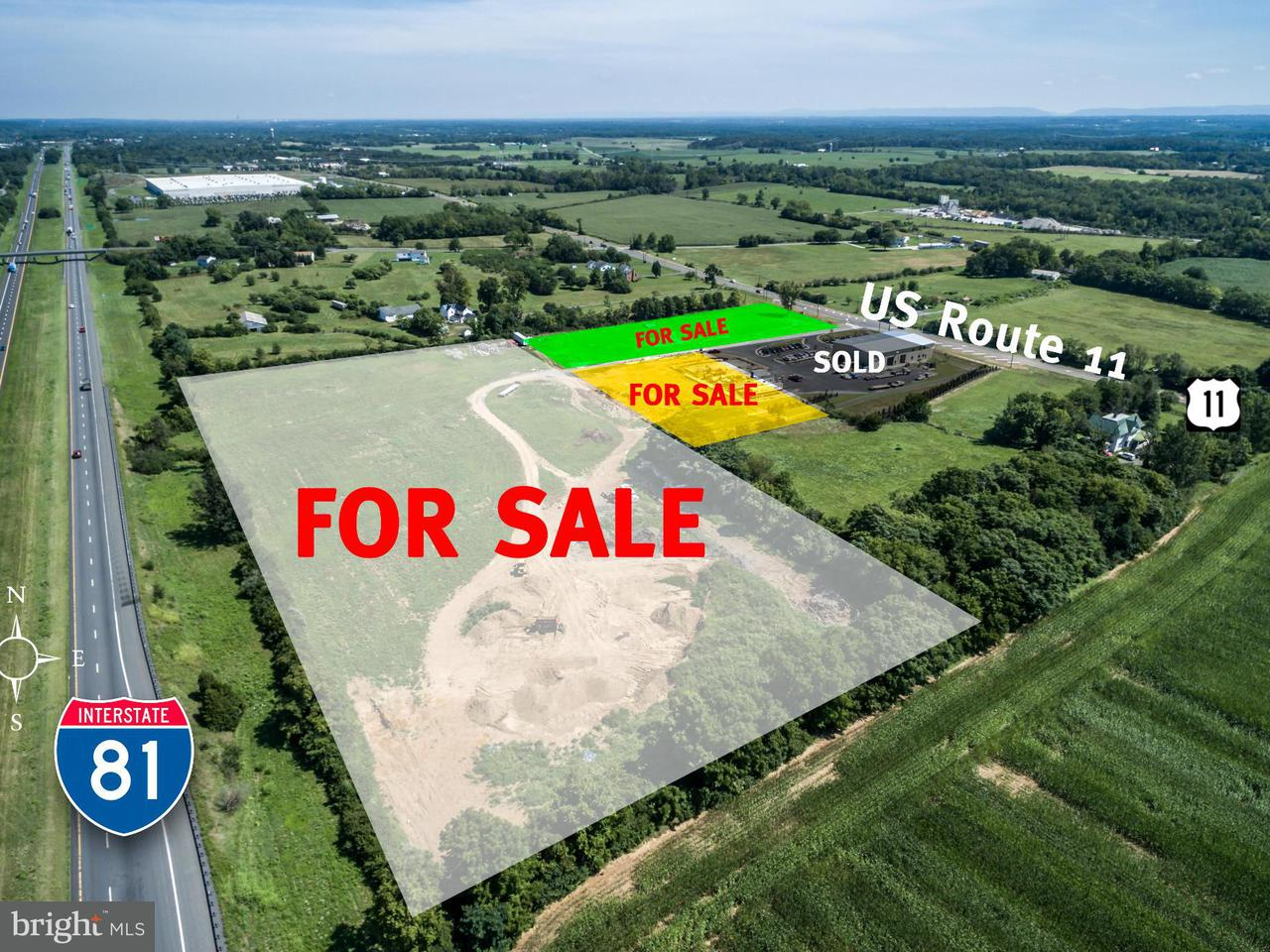 Terreno por un Venta en 3647 Martinsburg Pike 3647 Martinsburg Pike Clear Brook, Virginia 22624 Estados Unidos