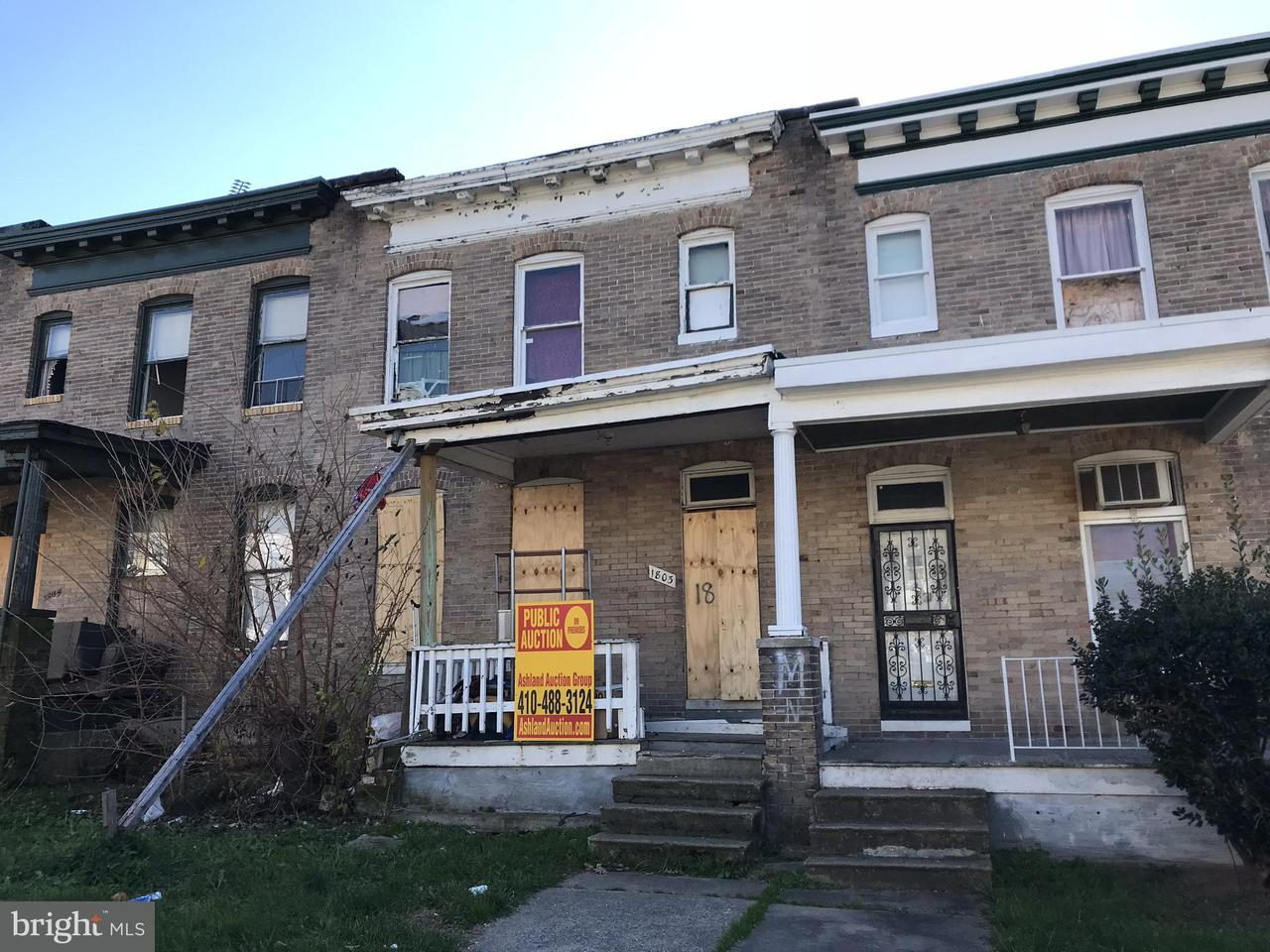 Single Family for Sale at 1803 29th St E Baltimore, Maryland 21218 United States