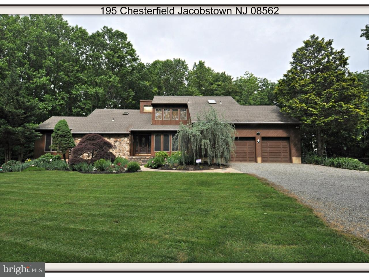 Single Family Home for Sale at 195 CHESTERFIELD JACOBSTOWN North Hanover, New Jersey 08562 United States