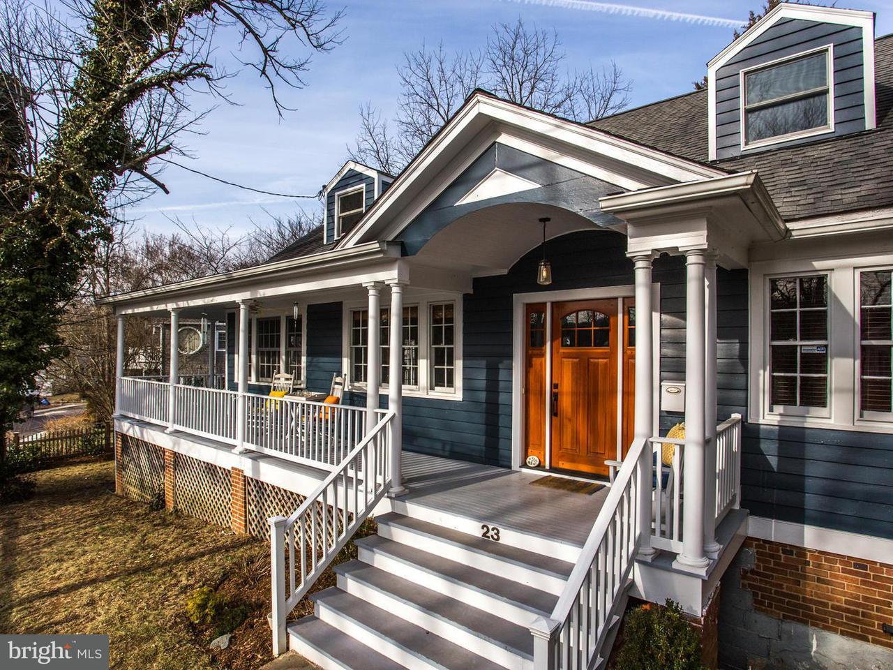 Частный односемейный дом для того Продажа на 23 WELLESLEY Circle 23 WELLESLEY Circle Glen Echo, Мэриленд 20812 Соединенные Штаты