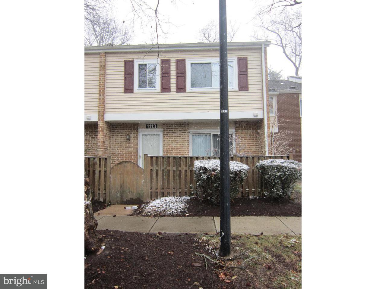 Casa unifamiliar adosada (Townhouse) por un Alquiler en 1113 ROWAND Court Voorhees, Nueva Jersey 08043 Estados Unidos