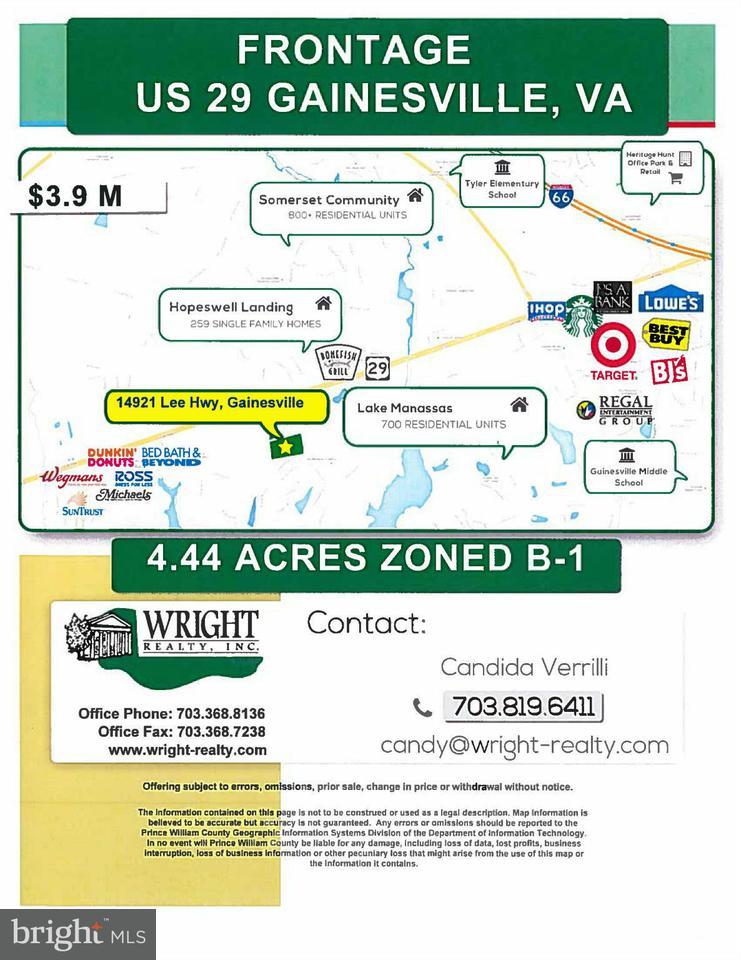 Terreno per Vendita alle ore 14921 LEE HWY 14921 LEE HWY Gainesville, Virginia 20155 Stati Uniti