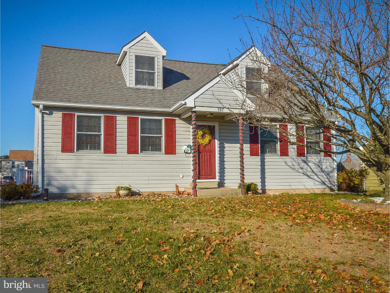 Частный односемейный дом для того Продажа на 197 WASHINGTON Street Red Hill, Пенсильвания 18076 Соединенные Штаты