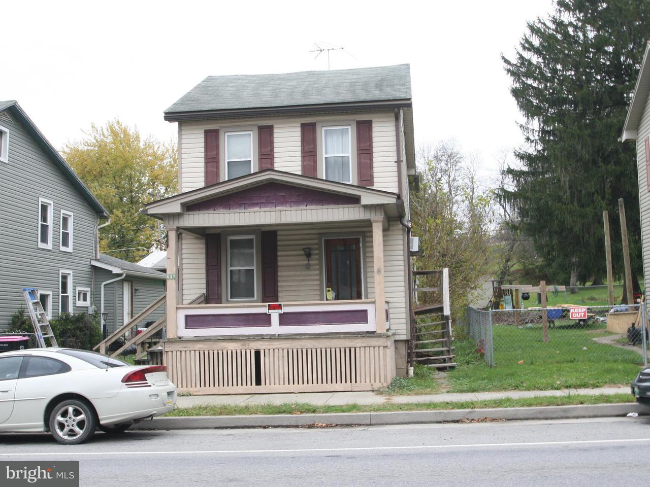Single Family for Sale at 637 Ridgley St Orbisonia, Pennsylvania 17243 United States