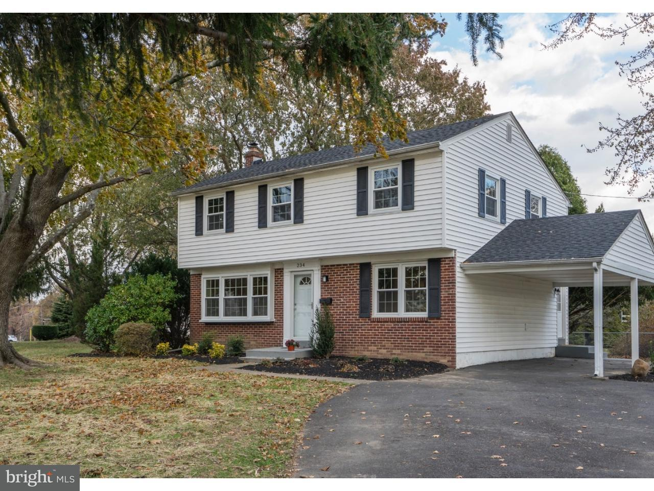 Single Family Home for Sale at 234 CRESTVIEW Road Hatboro, Pennsylvania 19040 United States
